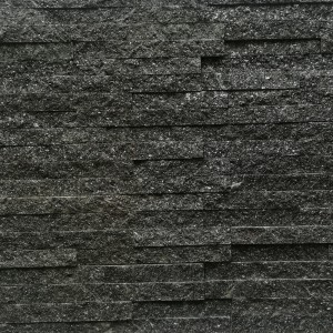 Decorative Quartzite Stone - Black 10x40